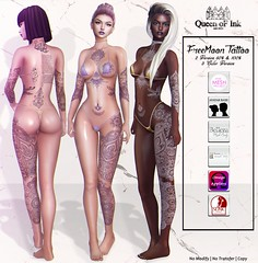 *Queen oF Ink - FreeMoon Tattoo @LOST & FOUND - Exclusive! (MonaSax95 Resident) Tags: new ink inked queenofink sl secondlife avatar avatars colors version versions color white black purple event exclusive