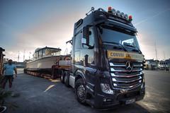 TruckerHD (Svendborgphoto) Tags: trucker truck lkw mercedes boat ship svendborg shipyard ultrawide tamron sp adaptall2 17mm machinery wheel convoy exceptionnel