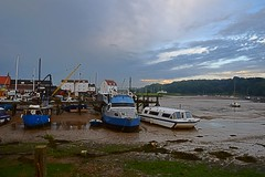 Dusk at Woodbridge with an ebbing tide and receding Storm. 23 06 2016 (pnb511) Tags: suffolk rurallandscape riverside tidal boats quay eastanglia riverdeben masts reflections sunshine mud dock