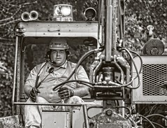 Man at work.....  explore (Kevin Povenz) Tags: 2016 september kevinpovenz westmichigan michigan ottawa ottawacounty coopersville blackandwhite bw canon7dmarkii man work truck