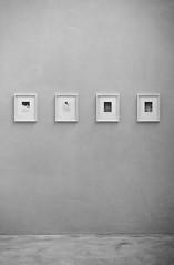 Bare (1) (Mathijs Delva) Tags: light shadow blackandwhite bw texture geometric monochrome lines architecture vintage concrete mono soft interior grain shapes angles objects indoor minimal retro geometrical grainy minimalism simple 50mmf14 simplism greyscale