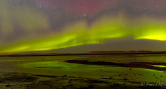 Colourful Skies (Jonas Ottos) Tags: ocean longexposure light green night reflections landscape iceland nightsky northernlights auroraborealis 2012 akranes northatlantic norurljs sigma1750 canon7d sigma1750f28ex