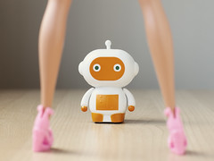 I generally avoid temptation unless I can't resist it (Fear_Through_The_Eyes) Tags: woman macro toy toys robot close