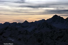 sunset in the Alps (stefano magon) Tags: winter sunset sky cloud sun mountain snow nature landscape switzerland nikon europe natura neve sole montagna 2012 d90