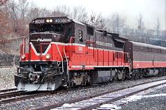 P&W Polar Express Christmas Train (robtm2010) Tags: christmas railroad usa engine trains rhodeisland locomotive pw christmastrain woonsocket passengertrain providenceworcesterrr polarepress no3905