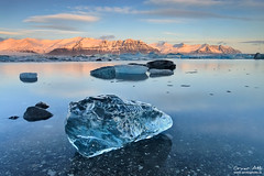 The Cube - Jökulsárlón glacier lagoon, Iceland (orvaratli) Tags: blue winter lake mountains cold ice water iceland january lagoon atlantic glacier iceberg jökulsárlón icecap