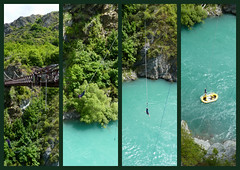 Bungy Jumping. (mike 42) Tags: river jump nz otago queenstown bungy kawarau