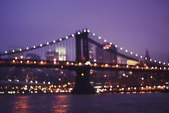brooklyn bridge (a crown of splendour) Tags: new york newyorkcity sunset sky newyork sunrise bokeh manhattan