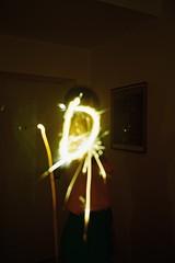 Burn (TijanaT) Tags: new party analog mju fireworks mini olympus celebration years estrellita marijeta