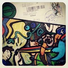 Desde tierras lejanas, desde el Chile de Isabel Allende me mandan esta postal personalizada por @bibianamonje una #Tinerfeña con alma de mundo y pasión por el ser humano. Una postal de luz que acabó expresando sensaciones llenas de polvo de carretera y oj