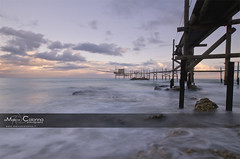 Sunset Punta Aderci (Marco Colonna) Tags: sunset sea clouds abruzzo trabocco puntaaderci