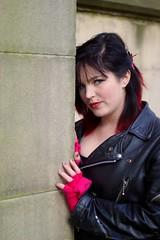 IMG_1251 (Neil Keogh Photography) Tags: red green girl manchester hellokitty gothgirl urbis tartan tartanskirt cathedralgardens newrockboots manchestercitycenter modelchristine