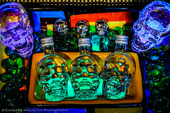 Hula in the Coola (Cameron Knowlton) Tags: close up crystal head vodka fridge magnet magnets glass bead beads glow stick sticks hula he coola long exposure shot glasses blue bottle bottles bright closeup color colorful colour colourful d600 festive fiesta glowstick green light nikon potd purple shotglass shotglasses skull skulls spooky