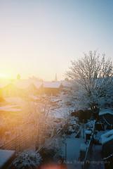 Winter's flare (The Old Penfold) Tags: snow film home 35mm iso400 lensflare porta flare norwich pointandshoot analogue kyocera yashica t4 yashicat4 kodakportra400 35mmf35 kyoceraslimt