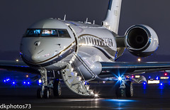 Night Life (dkuttel) Tags: longexposure nightphotography night canon portland nightshot pdx global privateplane bombardier globalexpress privatejet kpdx portlandinternationalairport 70200f28lis corporatejet atlanticaviation canon7d