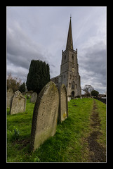 Slimbridge Parish Church (Travels with a dog and a Camera :)) Tags: england southwest west church digital photoshop dc pentax unitedkingdom south sigma gloucestershire graves 1020mm febuary 43 2012 k5 lightroom slimbridge cs6 1456 sigma1020mm1456dc pentaxk5 photoshopcs6 lightroom43