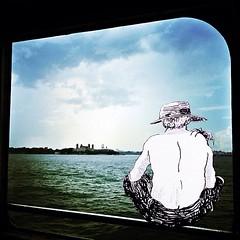 Huck on the Hudson (navema) Tags: nyc ny newyork river graphicdesign boat manhattan hudsonriver huckleberryfinn natashamarco navema navemastudios buckfinn