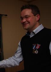 """Årsfest 2013. Forde er fornøyd med å ha fått Den Norske Skyttermedalje i gull på plass • <a style=""""font-size:0.8em;"""" href=""""http://www.flickr.com/photos/93335972@N07/8486916904/"""" target=""""_blank"""">View on Flickr</a>"""