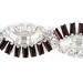 3015. Red and White Rhinestone Bracelet, Kramer