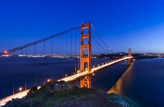 DEEP BLUE (Rober1000x) Tags: sanfrancisco california longexposure bridge night goldengatebridge goldengate bluehour sausalito 2013