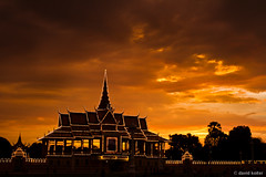 Royal Palace (davidkoiter) Tags: light sunset sky orange cloud david silhouette canon eos evening cambodia low palace 7d april l series phnompenh f4 1740 2012 f4l koiter davidkoiter