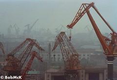 Polluted Pudong (Bob McKercher) Tags: china shanghai pudong minoltasrt101 huangpuriver nanpubridge