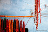 Necklances hanging. Varanasi, Benares, Uttar Pradesh, India (nomadiceyes) Tags: street old city travel urban india horizontal wall river outdoors town alley asia indian viajes alleyway varanasi hanging ganga ganges benares ghat brightcolours uttarpradesh travelphotography colorimage indianculture documentaryphotography buildingexterior necklance fotografiadocumental fotografiadeviajes rachelcarbonell