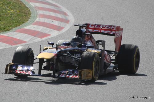 Daniel Ricciardo in his Toro Rosso at Formula One Winter Testing, 3rd March 2013