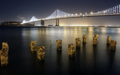 Best Bay (jirfy) Tags: sf show lighting bridge light building ferry night island lights oakland bay san francisco long exposure shot grand led embarcadero yerba bet ybi buena