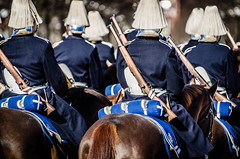 The kings men I (Jens Sderblom) Tags: horses horse sweden stockholm military guard royal rifles mounted soldiers sverige scandinavia swords hst hstar gustavadolfstorg d7000 beridnahgvakten statsbesk