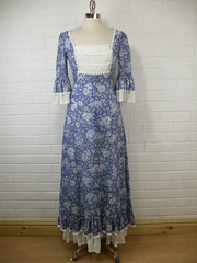 "Pretty Vintage 1970s 'Quad' Blue Floral Maxi Dress • <a style=""font-size:0.8em;"" href=""http://www.flickr.com/photos/92035948@N03/8551773940/"" target=""_blank"">View on Flickr</a>"