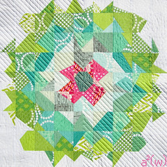 Shimmering Emerald Top (a²(w) - asquaredw - Ali) Tags: pink green quilt sewing mini emerald