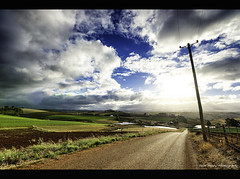 On The Road Landscape (Sean Savery Photography) Tags: road sky clouds sony forth tasmania crops feilds a99 seansaveryphotography