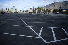 Dino lot (susan catherine) Tags: mountain lines parkinglot s cabazon x100