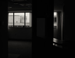 Vacant Office, First Hill, Seattle (Blinking Charlie) Tags: seattle blackandwhite bw usa window blackwhite view washingtonstate 2012 firsthill canonpowershots100 vacantoffice blinkingcharlie cabrinimedicaltower
