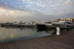 Boat line (iatassi) Tags: lebanon clouds boats harbor dock day cloudy   beirutlebanon  zaytunabay iatassi