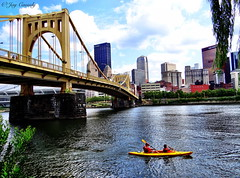 Taste of Summer - North Shore - Pittsburgh, PA (JayCass84) Tags: city bridge summer sky urban building water beautiful skyline clouds skyscraper buildings river landscape pittsburgh skyscrapers pennsylvania awesome bridges urbanlandscape 412 instagram instagramapp