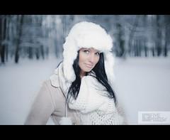 Marta S. (nienaserio) Tags: winter light portrait white snow umbrella canon photography eos 50mm photo soft skin bokeh mark five flash poland polska ii m42 ez 5d 28 pentacon 18 50 pixels zima softbox 2012 śnieg 430 markii marki nysa kobieta i strobist nienaserio fivepixelspl