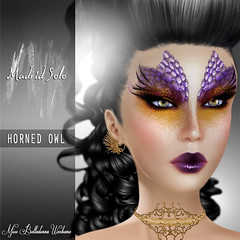 Horned Owl (Madrid Solo) Tags: fashion tattoo sale unique makeup style lips fantasy secondlife layers lipstick cosmetics wounds avantgarde eyemakeup madridsolo tattoolayers