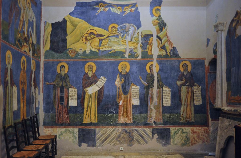 Lamentation Wall Painting Byzantine