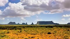 Arizona Navajo Nation Monument Valley Park 1998 (edk7) Tags: park arizona sky usa cloud monument nature rock landscape nation erosion valley 1998 geology navajo eos650 edk7