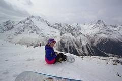 Vika (Ekaterina Sotova) Tags: winter sun snow mountains girl snowboarding happy march spring ride russia extreme freeride holydays biy madnes caucas 2013 dombay karachaycherkessia