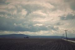 (L. Paul) Tags: road blue sky field clouds landscape illinois hills powerlines