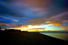 Clouds and colours (Lucio Busa) Tags: longexposure b sunset sea cloud bulb clouds lens photography big sigma wideangle filter nd 1020 stopper a77 sonyalpha nd1000 schiavonea