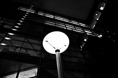 14/365 - view up (at night) (eggii) Tags: night project 365 bw lodz cinema