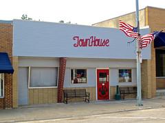 Townhouse, Nashua, IA (Robby Virus) Tags: nashua iowa town house townhouse bar grill american flag huskies building tavern pub restaurant