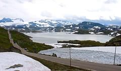 Sognefjellet (Kjetil ) Tags: sognefjellsvegen sognogfjordane oppland luster lom norge norway mountain jotunheimen glacier snow summer road turtagr nasjonalturistveg prestesteinsvatnet