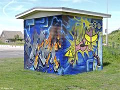 Graffiti Katwijk (Akbar Sim) Tags: transformatorhuisje katwijk holland nederland netherlands graffiti akbarsim akbarsimonse 220
