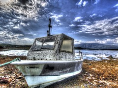 The Stranded Boat (RS400) Tags: boat hdr scotland wow am amazing wicked art north west oban lismore sea water beach olympus landscape landscapes island