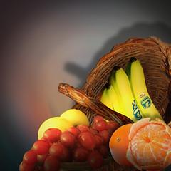 Fruit basket (jaci XIII) Tags: cesta frutas banana ctricos basket fruit citrus